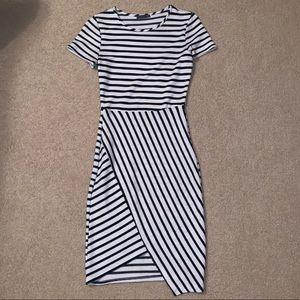 Blue and white striped dress size small